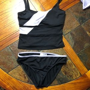Merona | swimwear | sz: L | purple/black